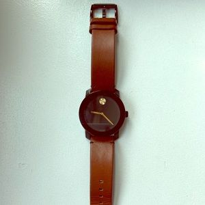 Brown Leather Men's Movado Bold